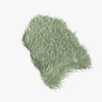3D cream fur sheepskin carpet rug