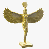 golden statue isis ancient egyptian model