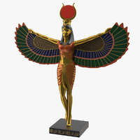 isis ancient egyptian goddess 3D model
