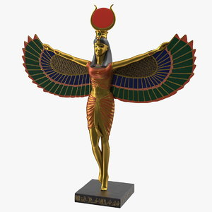 isis ancient egyptian goddess 3D model