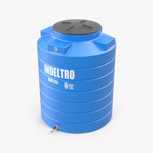 3D plastic water storage tank model