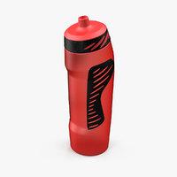 3D sport water bottle red
