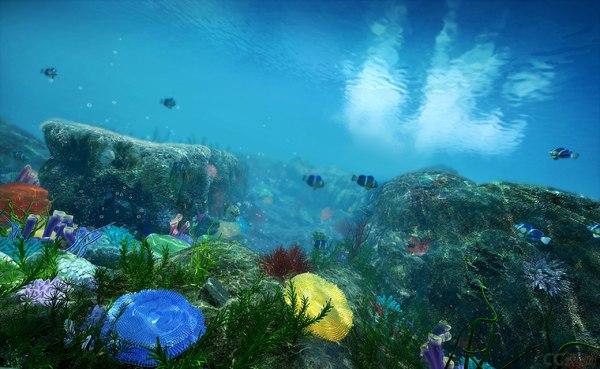 underwater world water 3D