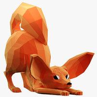 3D fenek fox model