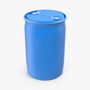 plastic barrel 30 gal 3D