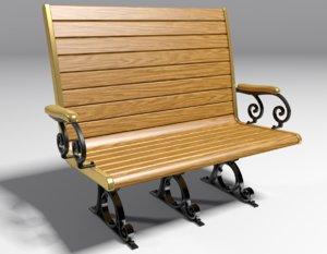 trolley bench 3D model