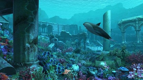 underwater water 3D model
