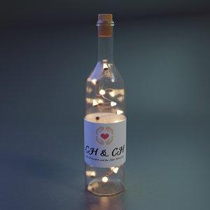 decorative bottle garland 3D model
