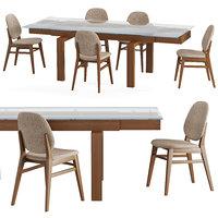 table chair hyper colette 3D model