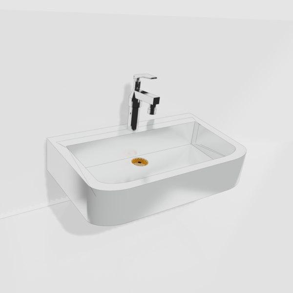 3D wash basin model