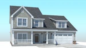3D classic american house