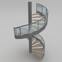 3D model metal steps