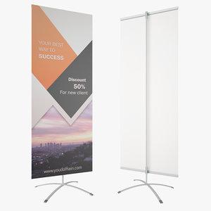 3D banner stand easy flex