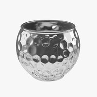 3D hammered metal vase model