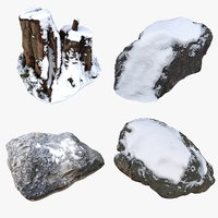 3D nature snow element model