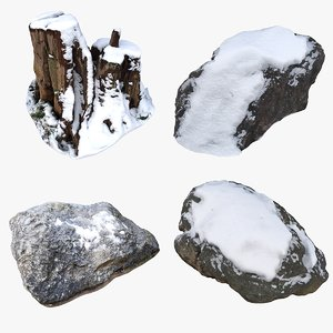 3D nature snow element model