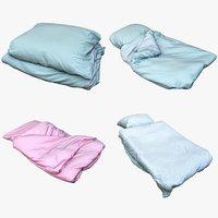 bedclothes bedding 3D