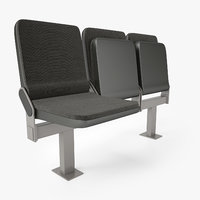 3D auditorium seating chair model