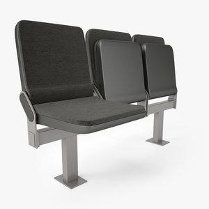 3D auditorium seating chair model