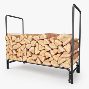 3D firewood rack fireplaces