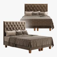 bed furniture bedclothes 3D model