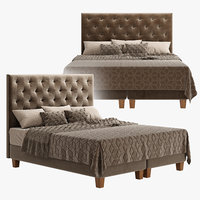 bed furniture bedclothes 3D