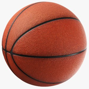 3D model generic basketball ball