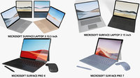 3D model realistic microsoft surface laptop