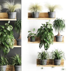 3D plants wall decor vertical