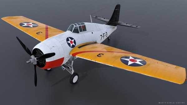 uss - grumman wildcat 3D model
