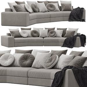 giorgetti skyline sofa 3D model