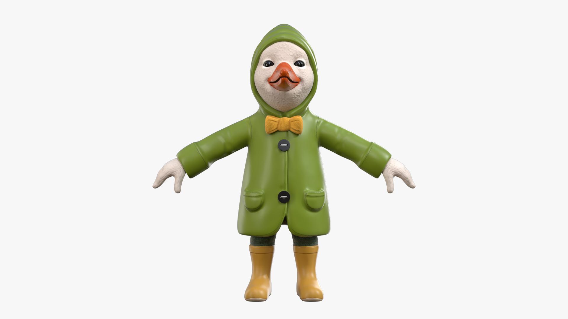 3D duckling raincoat rain duck