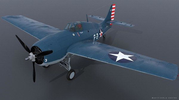 3D model butch grumman wildcat