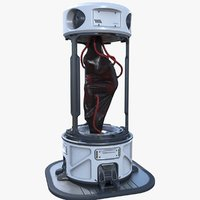 ready sci-fi cloning device 3D model