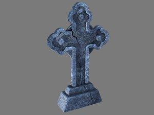3D cross pbr model