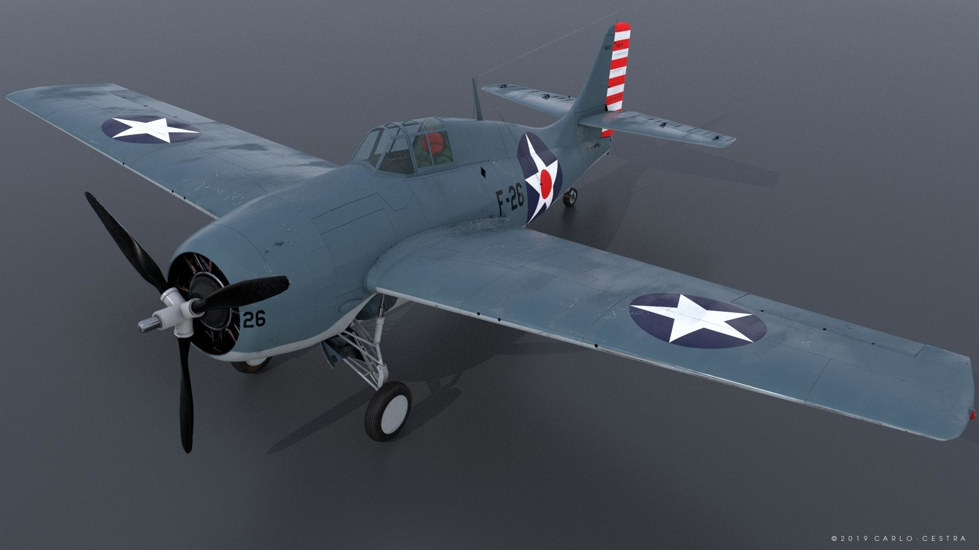 uss grumman wildcat model