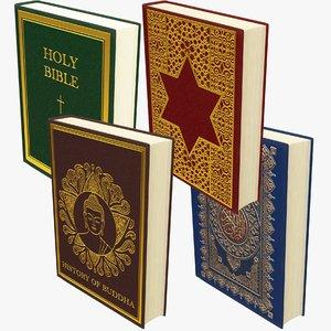 religious books 3D