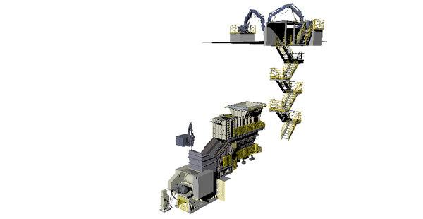 3D equipments crusher plant