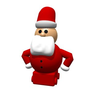 3D santa claus toy