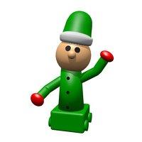 3D elf toy