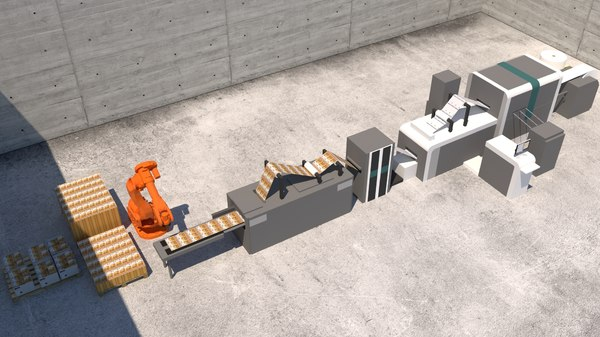 euro bank factory 3D model