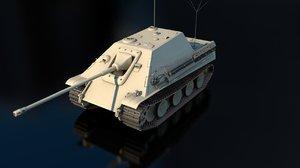 3D jagdpanzer battle tank model