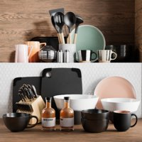 realistic kitchen accessories 6 3D