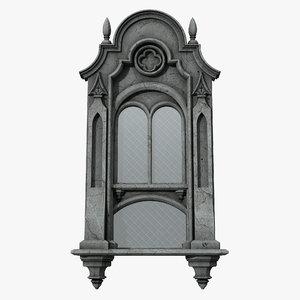 gothic window 07 3D model