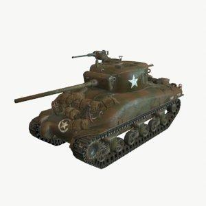 m4a1 sherman tank 3D
