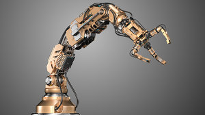 3D robotic arm 2 rigged