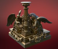 statue isaac s cathedral 3D