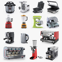 Kitchen appliances collection KitchenAid Cuisinart La Cimbali M100 DeLonghi WaringPro Instant Megaforce 3000 espresso machine meatgrinder electric grinder commercial cook cookware dining room