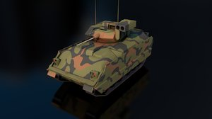3D model m2a2 infantry fighting vehicle