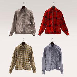men s shirts 3D model